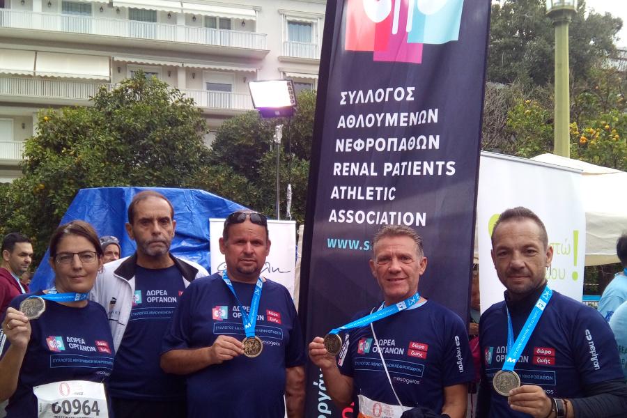 πέντε αθλητές με μετάλλια