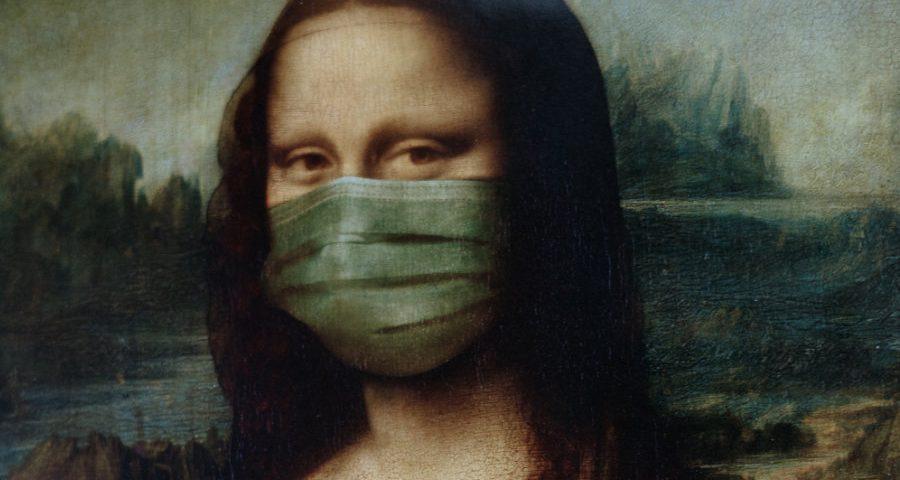 mona lisa με μάσκα!