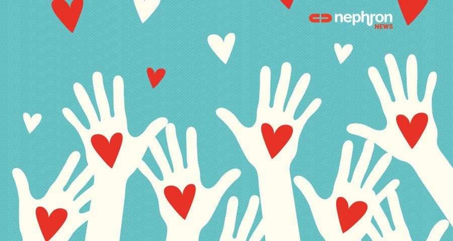 χέρια που μοιράζουν καρδιές
