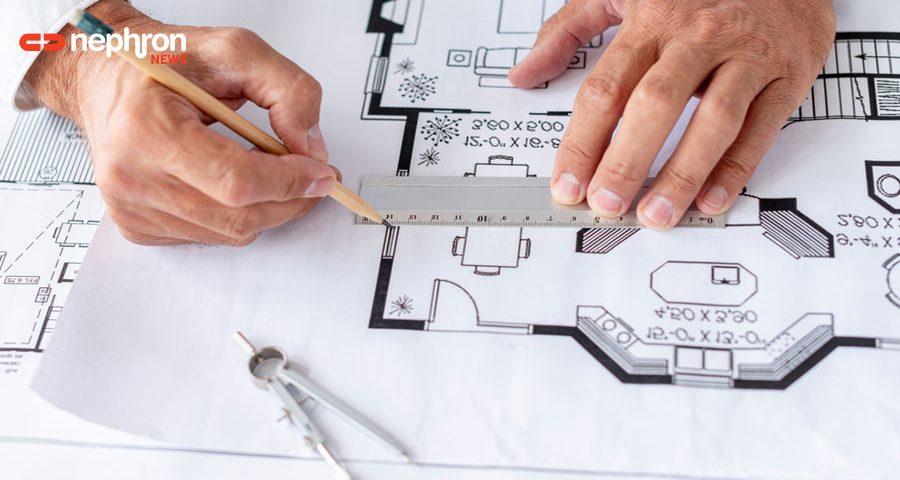 χέρια αρχιτέκτονα σχεδιαζουν
