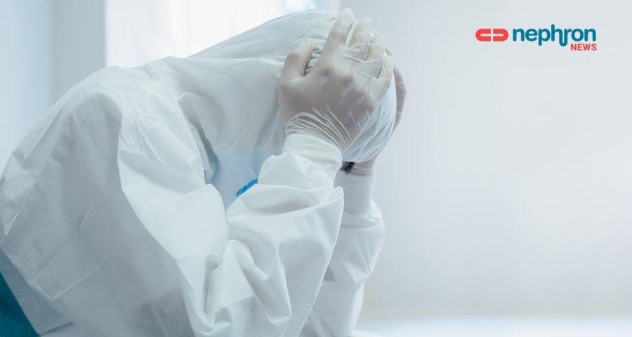 covid19 στρεσσαρισμένος γιατρός