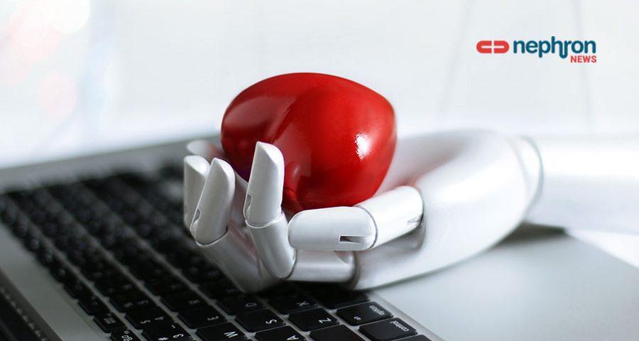ρομποτικο χέρι κρατάει καρδιά
