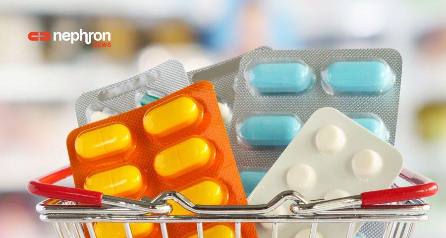 χάπια σε μεταλικό καλάθι