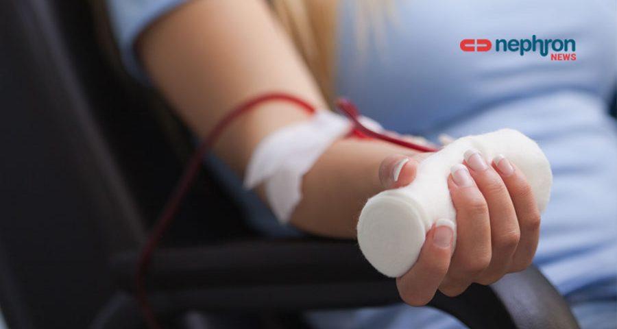 χέρι ασθενή αιμοκάθαρσης