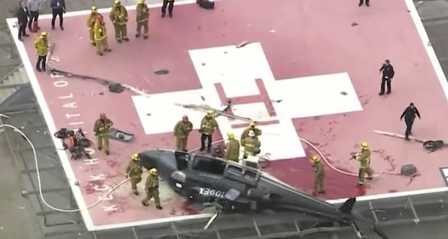 ελικόπτερο που μεταφέρει καρδιά πέφτει στο πλάι