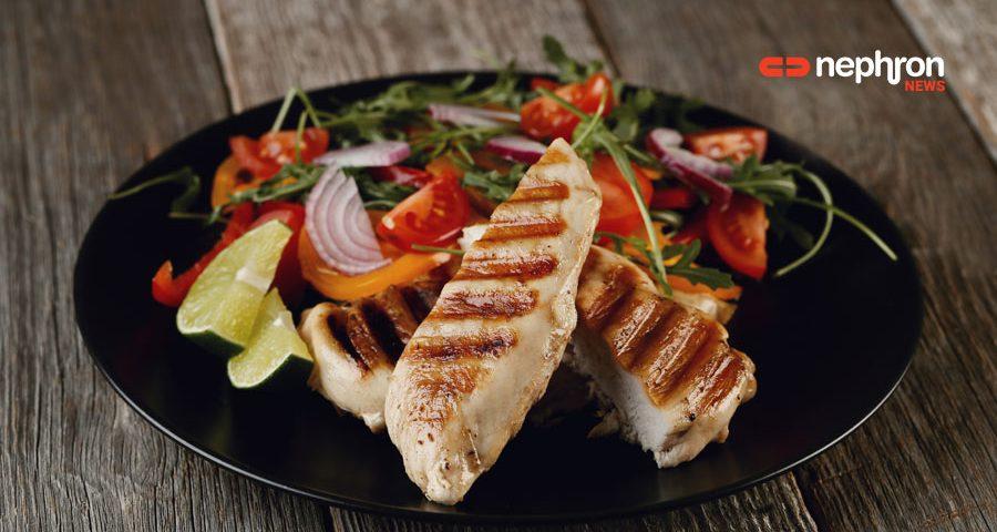 πιάτο με κοτόπουλο και λαχανικά
