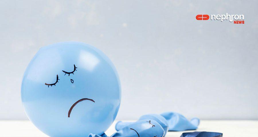 μπλε λυπημένο μπαλονι