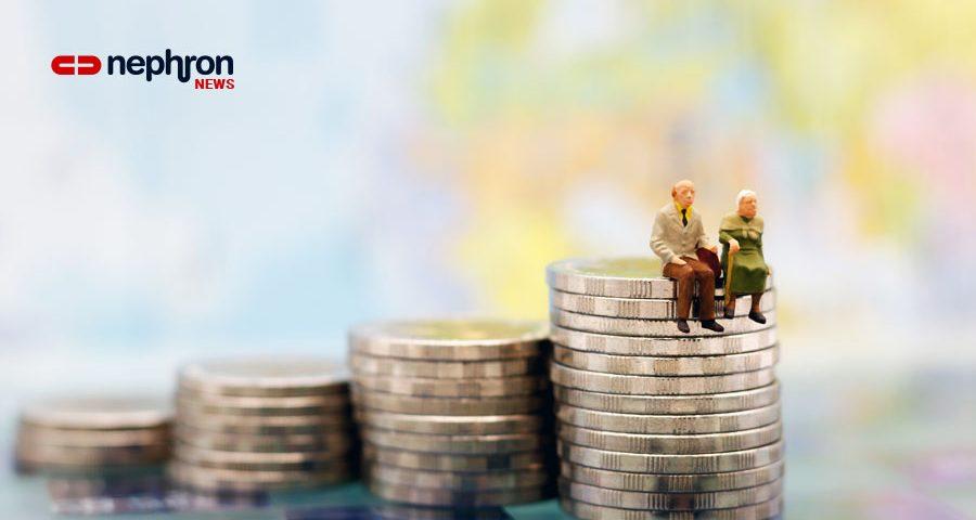 γέρικο ζευγάρι πάνω σε κέρματα