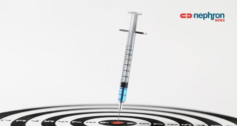 συριγγα εμβολίου σε στόχο darts