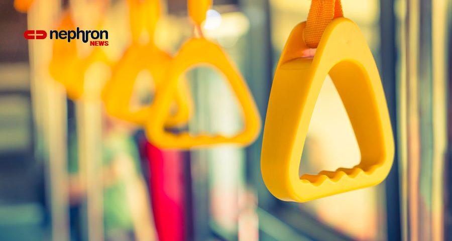 κιτρινες χειρολαβές τραίνου