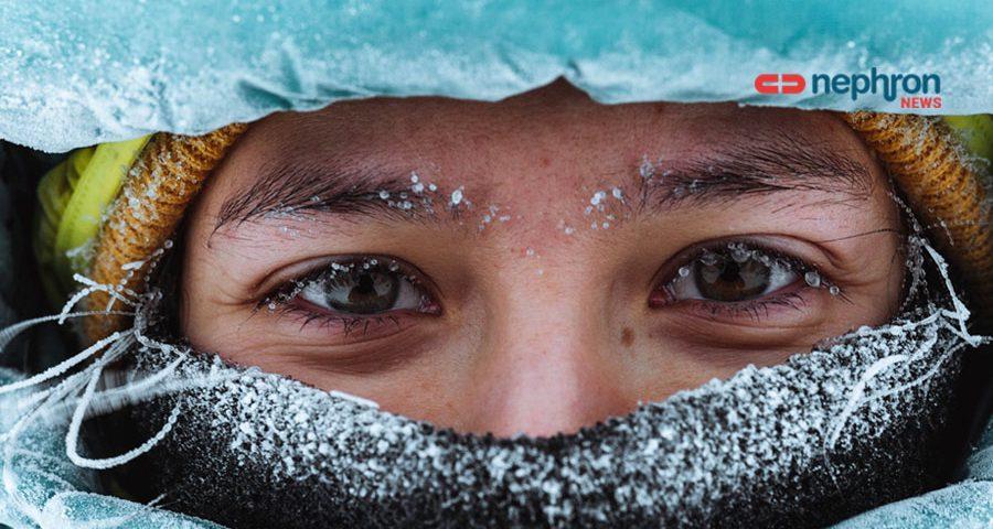 κορίτσι κρυώνει