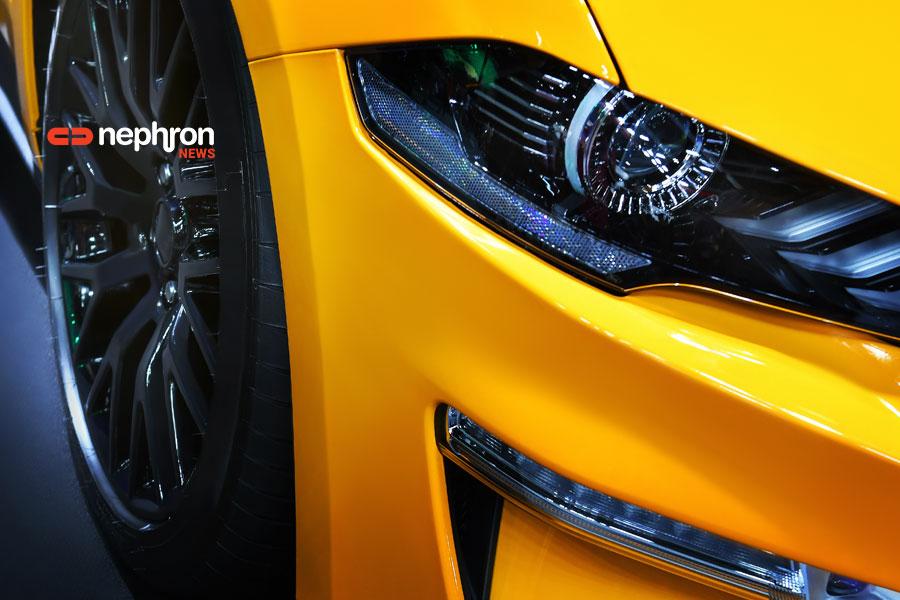λεπτομέρεια κίτρινου αυτοκινήτου
