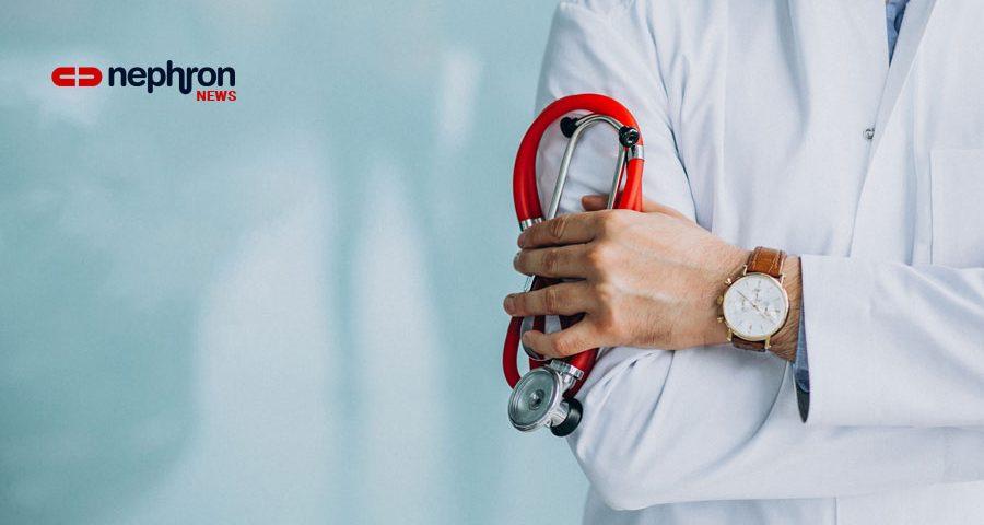 γιατρός με κόκκινο στηθοσκόπιο