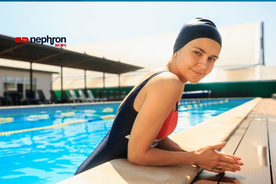 νεαρή κολυμβήτρια