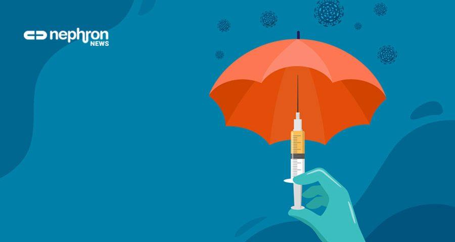 πορτοκαλιά ομπρέλλα με εμβόλιο